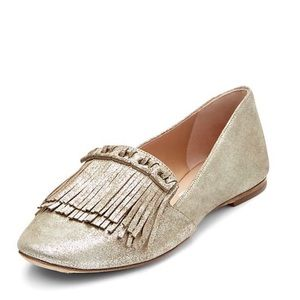 DVF Alderny Fringed Glitter Smoking Slipper
